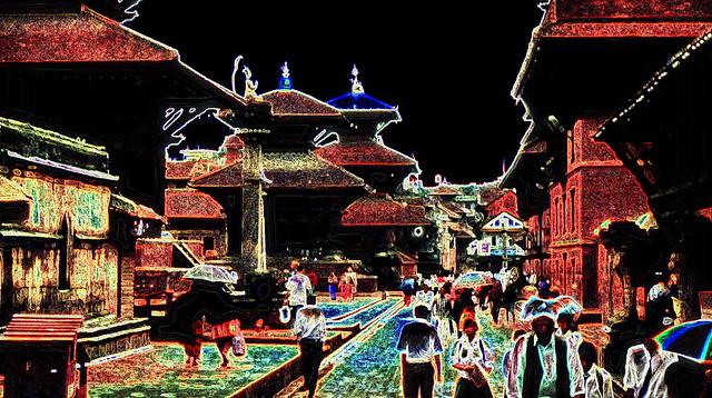Nepal - Patan - Durbar Square - 103c