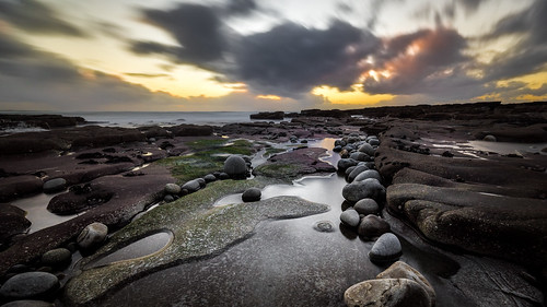 longexposure travel ireland light sunset sea sky orange seascape motion water clouds landscape geotagged photography photo rocks europe clare sony fullframe ie onsale ultrawide a7 liscannor sonya7 sonyfe1635