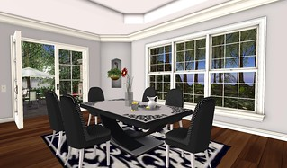 Closer to the Heart Monochrome Dinette | by Hidden Gems in Second Life (Interior Designer)