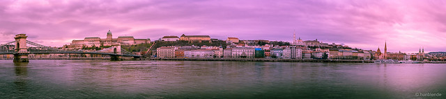 Buda Castel and the Castle Hill-Pano