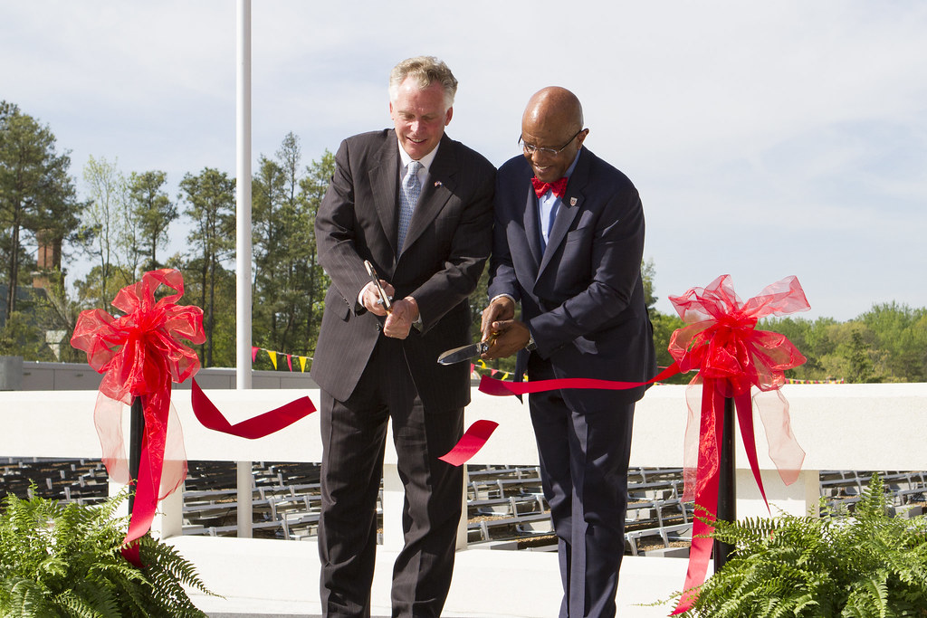 Governor Terry McAuliffe, UR President Ronald Crutcher