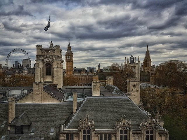 Flags, wheels and spires - the skyline of London town