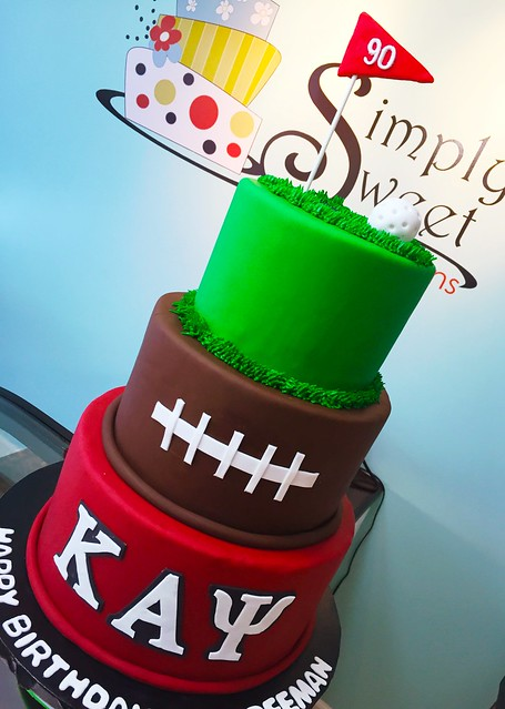 Golf, Football, and Fraternity Cake