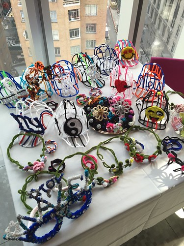 flower tiaras and assorted hat fun @ The Mitzvah | by Wendy The Pipe Cleaner Lady
