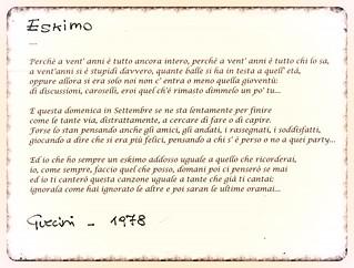 Eskimo Francesco Guccini 1978 Oggi Va Così Un Poc