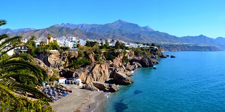 Playa De La Calahonda, Nerja, Spain. Panorama.  Nikon D3200. DSC_0251-0255.. | by Robert.Pittman