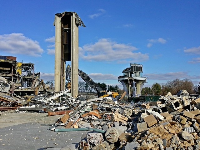 Final stages of demolition at White Flint Mall [03]