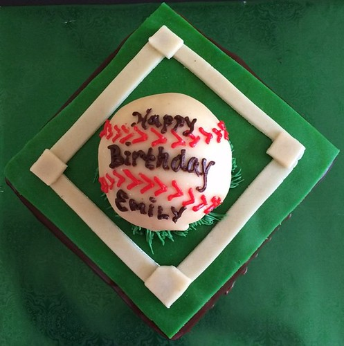 Baseball cake by Kathy, Santa Cruz, CA, www.birthdaycakes4free | by Birthday Cakes 4 Free