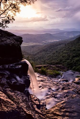 sunset storm waterfall nikon australia rapids valley queensland d750 oreillys cascade stormcloud goldenhour lamington lamingtonnationalpark southeastqueensland moransfalls leefilters oreillysrainforestretreat bigstopper