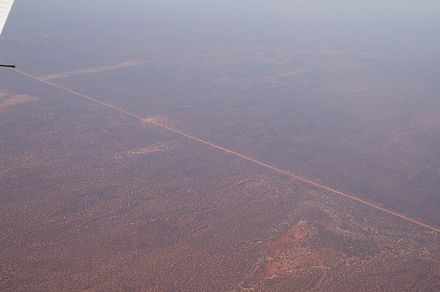 The border between NSW and SA and the dog proof fence