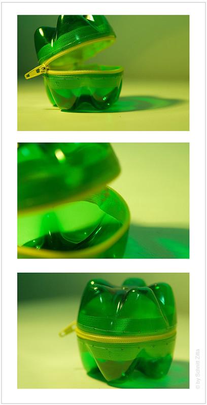 PET BOTTLE PURSE / recycled / recycling // www.zittaschnitt.com