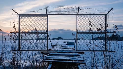 morning winter sun abandoned ice sunrise espoo finland landscape dawn mole talvi derelict forlorn jää aurinko uusimaa laituri aamu auringonnousu hylätty