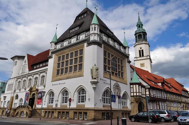 Musée Bomann (1903-1907), Schlossplatz, Celle, Basse-Saxe, République Fédérale d'Allemagne.