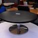 Black circular coffee table