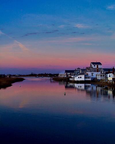 sunset reflection colors reflections massachusetts newengland bythesea