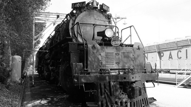 Union Pacific 4014 Black and White