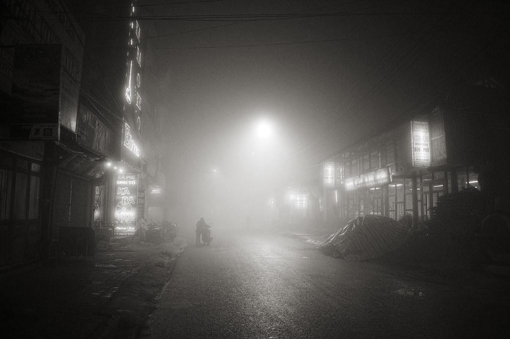 A misty night in Sapa