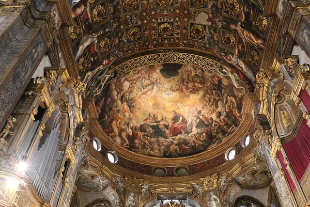 Incoronazione della Vergine (1540-1542) - Michelangelo Anselmi (cartoni di Giulio Romano) - abside della basilica Santa Maria della Steccata