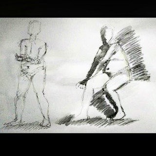 Sunday 6th March 2016, independent life drawing session in Theatre Utopia @matthewsyard  Information and dates http://descart.es/lifedrawing  #art #artgallery #descartes #gallery #form #artist #artwork #chalk #culture #charcoal #coffee #coworking #paint # | by descART.es