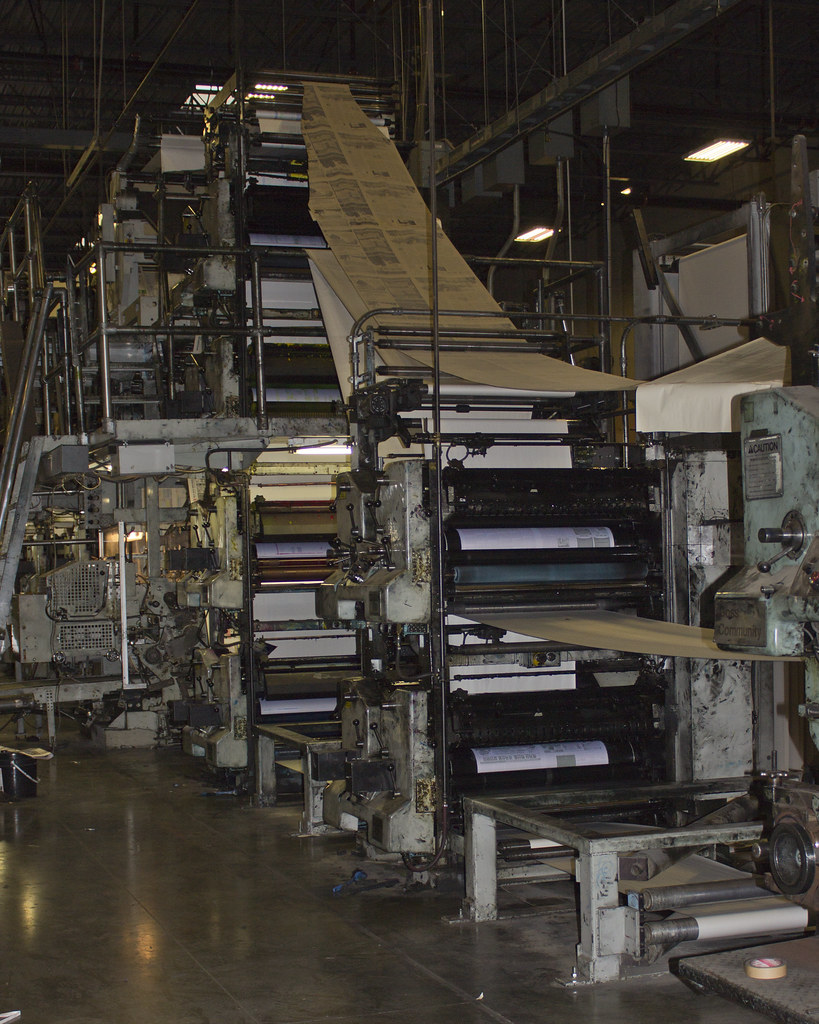 Web Press | Web Press used for large run printing of newspap… | Flickr