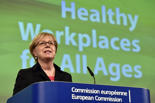 15/04/2016 - 11:44 - Joint press conference by Marianne THYSSEN, Member of the EC in charge of Employment, Social Affairs, Skills and Labour Mobility and Christa SEDLATSCHEK, Director of the European Agency for Safety and Health at Work (EU-OSHA) at the European Commission Headquarters in Brussels, Belgium, April 15, 2016.