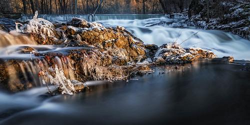 winter newyork ice water rocks falls waterfalls beaconny lateafternoonlight fishkillcreek scenichudson madambrettpark tiorondafalls