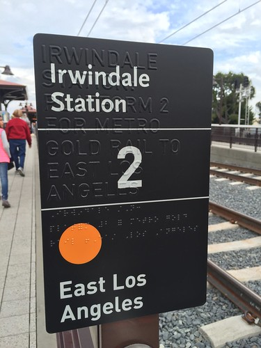 Tactile and Braille Platform Sign at Irwindale Station | by Oran Viriyincy