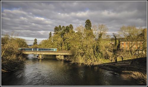 mill train railway riversevern atw class158 arrivatrainswales clicewydd