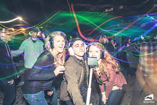 Photo credit: Kurtis Schachner. Taken at the silent disco at Snowshoe Mountain featuring DJ V. Powered by Silent Storm | by Silent Disco