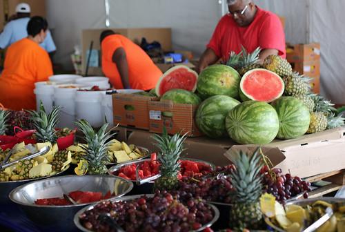 Fruit at WWOZ Hospitality Tent at Jazz Fest 2016