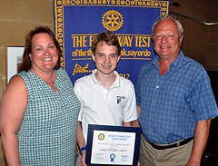 1st place winner Michael Caldwell poses with his very happy parents Liz & Joseph.