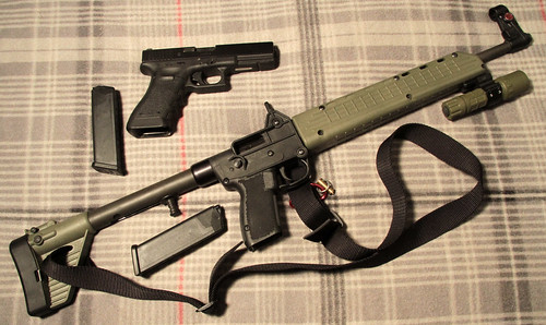 Glock .40 Cal.  and  Kel-Tec SUB 2000 in .40