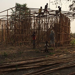 Ethiopia home being constructed with a bamboo frame (submitted by Abby Morris)