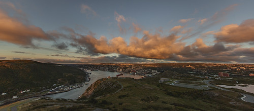city panorama cloud sun 3 st skyline clouds sunrise canon newfoundland eos dawn cityscape angle iii hill wide stjohns wideangle 5d rise signal 11mm ultra johns mk mkiii mk3 ultrawideangle newfoundlandandlabrador 1124mm canon5dmkiii canonef1124mmf4lusm canon1124mm canon1124mmf4