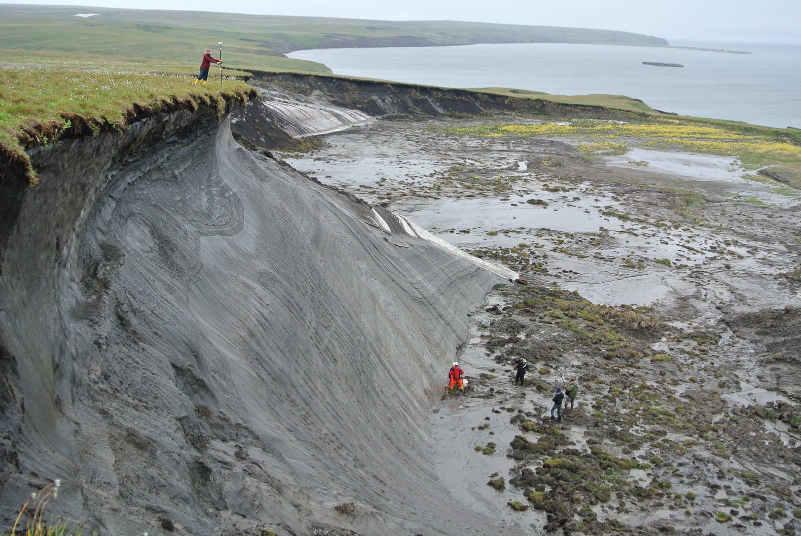 photo of thawing permafrost