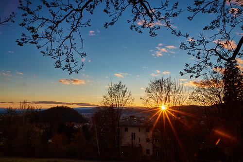 sunset sky sun golden sonnenuntergang himmel filter hour nd blau graz sonne cokin rosenhain sal1650 sonyslta58