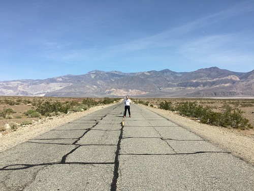 Jude on Mojave Desert highway in Panamint Valley | by Silver Hills Manor