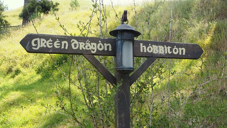 Green Dragon/Hobbiton Sign