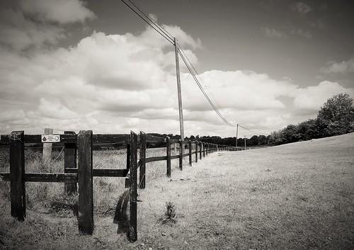 ireland sky blackandwhite bw irish monochrome clouds fence landscape wire scenery view cork telegraphpole htt donkeysanctuary liscarroll telegraphtuesday