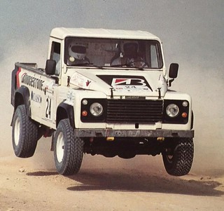 Mubarak Alhajri in Qatar Rally in Land Rover Rally