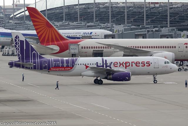 B-LCE - 2004 build Airbus A320-232, arriving at Kansai on flight HKE1686 from Hong Kong