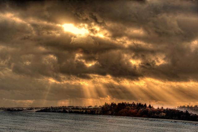 Sonne und Wolkenstimmung