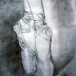 Meine Ballettschuhe, Bleistiftzeichnung