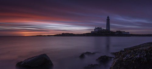 longexposure sea sky lighthouse seascape seaweed clouds sunrise canon wow landscape island dawn coast rocks northumberland le northsea serene northeast brilliant silky stmarys northeastengland leefilters canon6d littlestopper