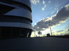 At the Mercedes-Benz Museum