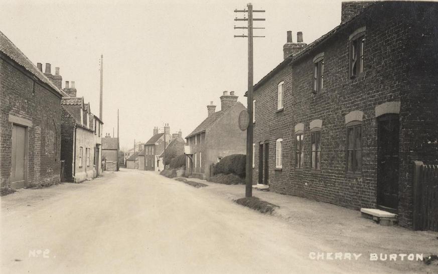 Cherry Burton, Main Street 1920 (archive ref PO-1-30-7)