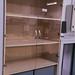 Tall two door glass door base tambour unit