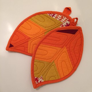 Leaf potholders | by squishythings