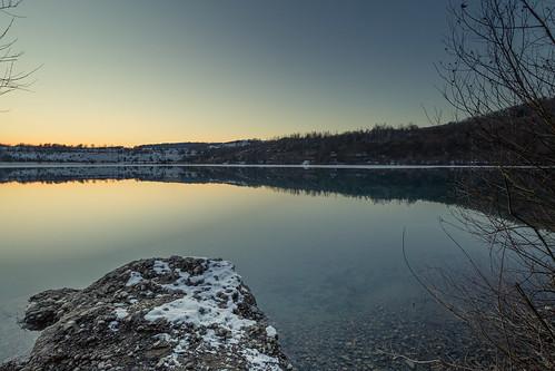 new blue winter light sunset nature water canon landscape flickr sonnenuntergang january beautifullight sigma bluehour landschaft goldenhour januar 2016 hegau baggerseebinningen