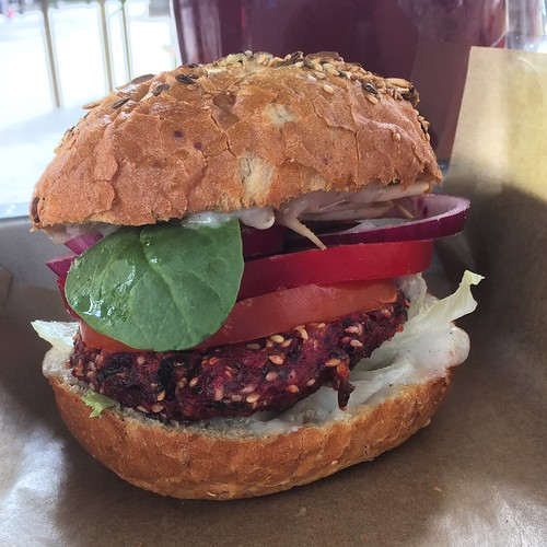 Beetroot burger | by Rachel Cotterill